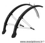 Garde boue city/VTC tringles 28 pouces plastic noir pour dynamo (paire) - Accessoire Vélo Pas Cher