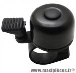 Sonnette ping alu noir pour cintre 22,2mm - Accessoire Vélo Pas Cher