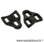 Cale pédale type look delta noir fixe (paire) marque Roto - Accessoire Vélo