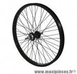Roue BMX 20 pouces arrière noir moy alu noir 48t. axe de 10 marque Vélox - Pièce Vélo