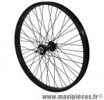 Roue BMX 20 pouces avant noir moy alu noir 48t. axe de 10 marque Vélox - Pièce Vélo