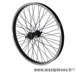 Roue BMX 20 pouces avant noir moy alu noir 48t. axe de 14 marque Vélox - Pièce Vélo