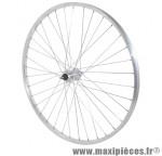 Roue city 650x30a (26x1 3/8) alu arrière moy alu axe plein rl 1/3v (vendu sans écrou 10x100) marque Vélox - Pièce Vélo