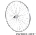 Roue city 650x30a (26x1 3/8) alu arrière moy alu axe plein rl 7/6/5v (vendu sans écrou 10x100) marque Vélox - Pièce Vélo