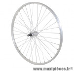 Roue city 650x35b alu arrière moy alu axe plein rl 7/6/5v (vendu sans écrou 10x100) marque Vélox - Pièce Vélo