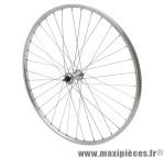 Roue city 650x30a (26x1 3/8) alu avant moy alu axe plein (vendu sans écrou 9x100) marque Vélox - Pièce Vélo