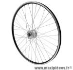 Roue VTC 700x35 avant er10 alu noir double paroi moy shimano dynamo dh2n 6 volt marque Vélox - Pièce Vélo