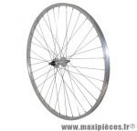 Roue VTC/city 700x28-35 arrière alu moy alu axe plein rl 1v (vendu sans écrou 10x100) marque Vélox - Pièce Vélo