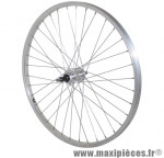 Roue VTT 24 pouces arrière alu moy alu axe plein rl 7/6v. (vendu sans écrou 10x100) marque Vélox - Pièce Vélo