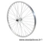 Roue VTT 24 pouces avant alu moy alu axe plein (vendu sans écrou 9x100) marque Vélox - Pièce Vélo