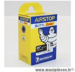 Prix spécial ! Chambre à air Michelin AirStop Junior 24x1,5 à 1,9 valve Presta E4 29mm 155g
