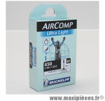 Prix spécial ! Chambre à air Michelin AirComp Ultra Light 650 x 18 à 23C valve Presta B1 40mm 70g