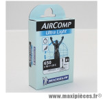Chambre à air Michelin AirComp Ultra Light 650x18 à 23C valve Presta B1 60mm 72g