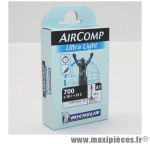 Chambre à air Michelin AirComp Ultra Light 700x18 à 23C valve Presta A1 40mm 75g