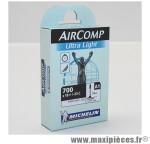 Chambre à air de vélo et de dimensions 700x18-23 a1 ultralight valve presta longueur 52mm 77g marque Michelin - Pièce Vélo
