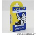 Chambre à air Michelin AirStop 700x18 à 23C valve Presta A1 52mm 100g