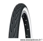 Pneu de vélo city 24x1 3/8 diabolo city'j blanc/noir tr (37-540) marque Michelin - Pièce Vélo