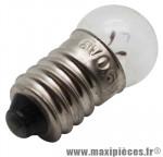 Ampoule/lampe 6 volts 0,6 watts e10 g14 (lampe vélo feu arrière) (boite de 10) - Accessoire Vélo Pas Cher