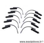 Coude v-brake 90° avec soufflet (sachet de 10 pièces) - Accessoire Vélo Pas Cher