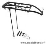 Porte bagage arrière a tringles alu noir réglable 28/26 pouces - Accessoire Vélo Pas Cher