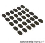 Protection cadre autocollant carbone 20x30mm (jeu de 30 pieces) - Accessoire Vélo Pas Cher