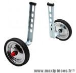 Stabilisateur vélo roue acier chrome 12-20 pouces (paire) marque Newton - Pièce Vélo