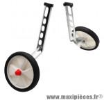 Stabilisateur vélo roue plastique blanc 12-20 pouces (paire) marque Newton - Pièce Vélo