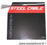 Cable de dérailleur inox renforce pour shimano et adaptable 1,2mm 2,10m (boite de 100) marque Newton - Pièce Vélo