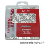 Prix spécial ! Chaîne de vélo route/VTT à 10 vitesses SRAM PC-1031 avec 114 maillons argent/noir