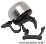 Sonnette ping alu argent a clipser diam 19 a 26,4mm marque Zéfal - Matériel pour Cycle