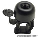 Sonnette ping alu noir a clipser diam 19 a 26,4mm marque Zéfal - Matériel pour Cycle