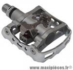 Pédale VTT automatique m324 polyvalente face auto spd/standard (paire) marque Shimano - Pièce Vélo