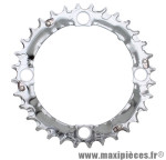 Plateau 32 dents VTT triple deore m510/lx m580 9v. argent 4 branches marque Shimano - Matériel pour Vélo