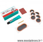 Nécessaire réparation chambre a air tt02 (6 pièces f1 + 1 pièce f2 + dissolution 5g) (506 0100) marque Tip-Top - Pièce Vélo