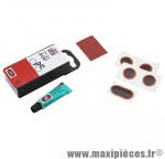 Nécessaire réparation chambre a air tt04 (4 pièces f0 + 1 pièce ovale + dissolution 3g) marque Tip-Top - Pièce Vélo