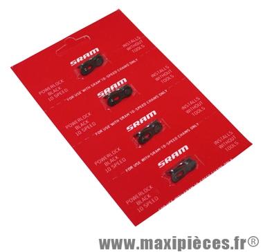 Attaches rapides SRAM Power Lock 10 vit. noir (carte de 4 pièces) *Prix spécial !