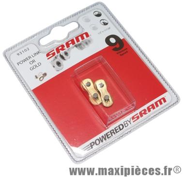 Attache rapide Sram Power Link 9v. Or (X2) *Prix spécial !