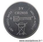 Pile bouton cr2450 3v pour compteur 1909hr/2209rox marque Sigma - Accessoire Vélo