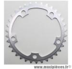 Plateau 34 dents route d.110 compact intérieur dural argent marque Stronglight - Pièce Vélo *prix spécial