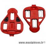 Cale pédale rouge mobile (paire) marque Miche - Pièce Vélo