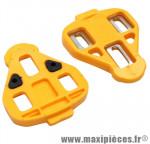 Cale pédale jaune fixe (paire) marque Miche - Pièce Vélo