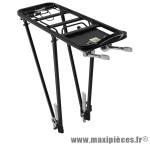 Porte bagage arrière a tringles alu noir réglable 28/26/24 pouces - Accessoire Vélo Pas Cher