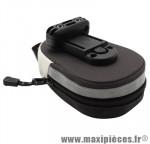 Sacoche de selle noir/beige fixation a clip (45x85x145mm) - Accessoire Vélo Pas Cher