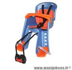 Prix spécial ! Siège enfant avant Bilby Junior Polisport bleu & orange à fixer sur direction