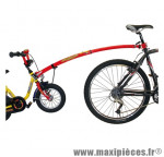 Prix spécial ! Barre de remorquage Trail Gator pour vélo enfant de 12 à 20 pouces de couleur rouge