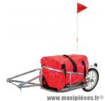 Remorque vélo a bagage maxi 32kgs (l131xl44xh28) avec roue 16 pouces - Accessoire Vélo Pas Cher