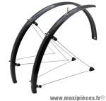 Garde boue city/VTC tringles 28 pouces 48mm noir (paire) marque Stronglight - Pièce Vélo