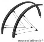 Garde boue city/VTC tringles 28 pouces 54mm noir (paire) marque Stronglight - Pièce Vélo