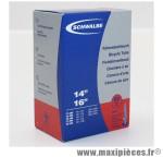 Chambre à air de vélo et de dimensions 350x35a - 14 pouces valve presta tout alu (37-288 à 40-305) marque Schwalbe - Pièce Vélo