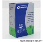 Chambre à air de vélo et de dimensions 350x35a - 14 pouces valve standard tout alu (37-288 à 40-305) marque Schwalbe - Pièce Vélo